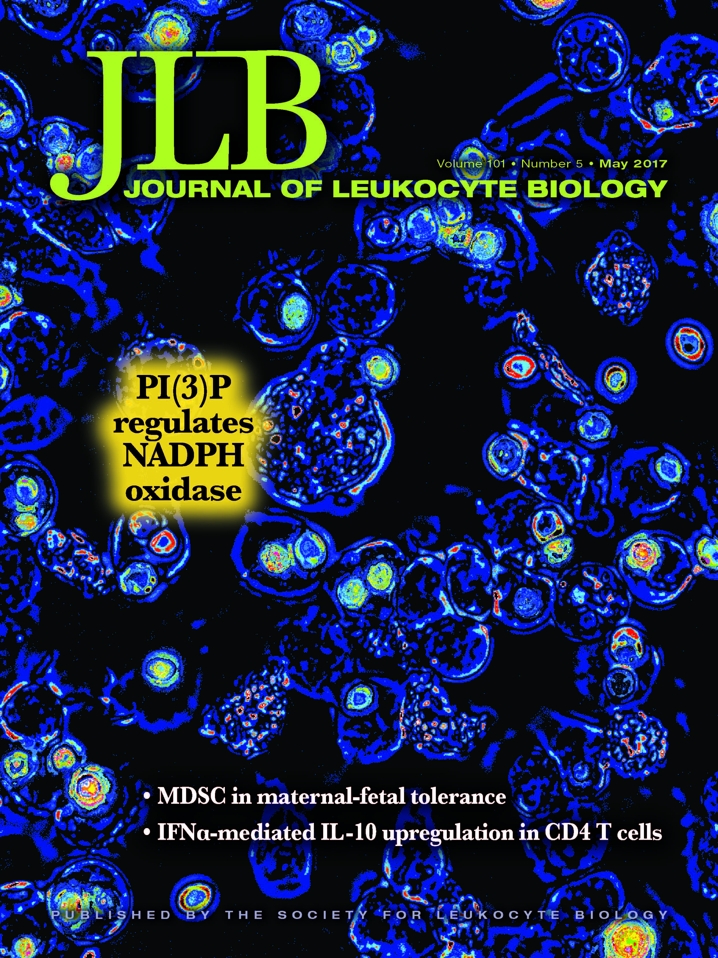 Rosenberg Lab article featured on JLB cover